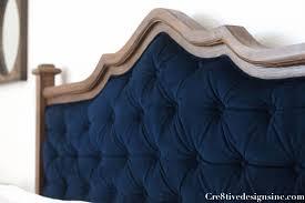 diy blue tufted headboard cre8tive designs inc