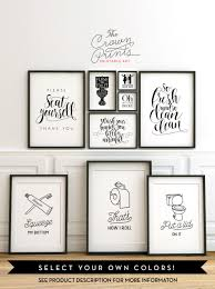 Half Bathroom Decorating Ideas Pictures Printable Bathroom Wall Art From The Crown Prints On Etsy Lots
