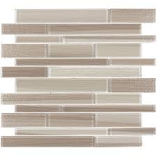 Wall Tiles by Shop Elida Ceramica Brushed Sand Linear Mosaic Glass Wall Tile