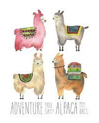 unique figure wall art for llama alpaca wall decor art print adventure time unique