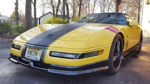 black and yellow corvette 1992 c4 lt1 corvette greenwood package one of a yellow black