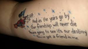 disney tattoos walt disney world for grownups