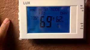 replace old thermostat with lux tx9600ts 7 day prog youtube