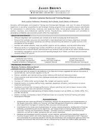 customer service manager resume profile restaurant manager resume