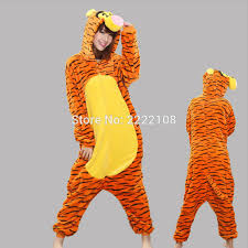 2016 fashion adults animal angry tigger onesie for women men