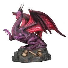 winged dragon statue in purple small dragon statues fantasy gifts