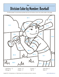coloring pages math worksheets math coloring sheets on color by number baseball printable