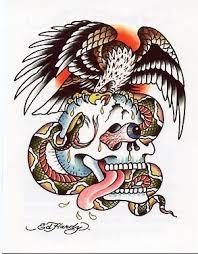 amazon com ed hardy eagle w bulging eye skull temporary