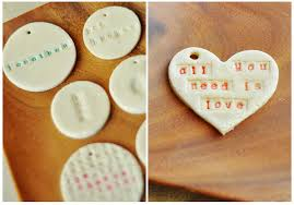 no bake salt dough ornament with typewriter letter sts only