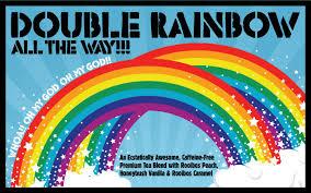 Double Rainbow Meme - double rainbow all the way tea oh my god oh my god what does