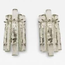 Crystal Wall Sconces Kinkeldey Pair Of Kinkeldey Ice Stick Crystal Wall Sconces