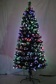 fibre optic 90cm christmas xmas tree lights pre lit multi colour
