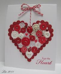 heart button card by lin from lily pad beautiful more fun button