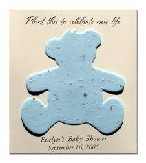 teddy baby shower favors plantable teddy baby shower favor