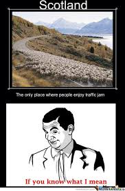 Scottish Meme - scottish traffic jam by zikon17 meme center