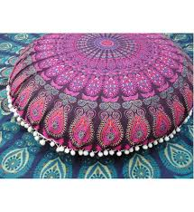 Large Outdoor Floor Pillows by Large Mandala Floor Pillows Round Bohemian Meditation Cushion