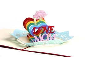 cheap i love mom greeting cards for flower shop and mother day