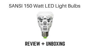 Led Flood Light Bulb Reviews by Sansi 150 Watt Led Lights Bulbs Unboxing And Review Youtube