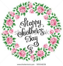 mothers day card messages happy mothers day card pink background stock vector 391674085