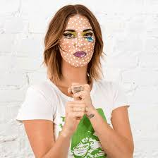 easy face makeup for halloween how to do easy pop art makeup for halloween brit co