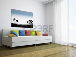 Living Room With Sofa Interior Design Cozy Living Room With Tv Set And Large Window