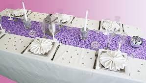 chemin de table mariage nos chemins de table couleur prune parme violet décoration