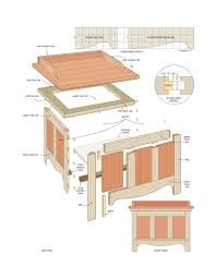 Free Outdoor Storage Bench Plans by Outdoor Storage Chest Plans Home Design