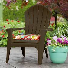 shop adams mfg corp earth brown resin stackable adirondack chair