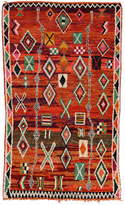 Danish Modern Rugs by Mid Century Modern Berber Moroccan Rug With Tribal Design For Sale