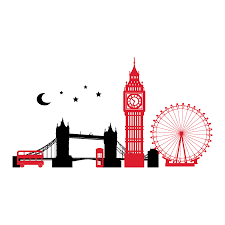 london skyline at night wall quotes wall art decal wallquotes com london skyline with moon and stars 2 color