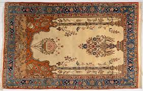lot 910 tabriz wool and silk tree of rug