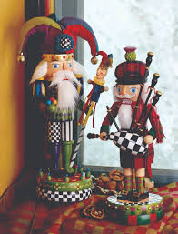 decorating wooden soldier nutcrackers for