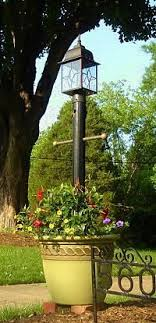 ace hardware solar lights sunergy solar l post with planter base 50400356 outdoor