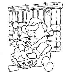 christmas pooh bear honey jar coloring pages coloring sky