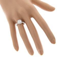 5 Carat Cushion Cut Engagement Rings Gia Cushion Cut Diamond Engagement Ring 2 07ct 14k Gold Halo