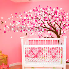 Cherry Blossom Tree Wall Decal For Nursery Trailing Cherry Blossom Tree Wall Decal 129 00 Wall