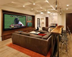Houzz Family Room Home Theater Traditional With Brown Sofa Black - Houzz family room