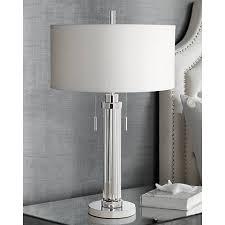 possini euro cadence glass column table lamp 1f535 lamps plus