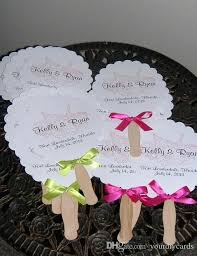 wedding paper fans fan wedding invitations fan shaped wedding order of service paper