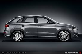 audi q3 modified q3 what would a modified audi q3 look like thanks to photoshop