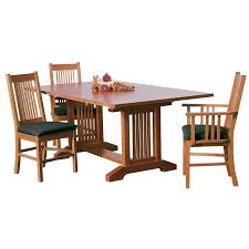 Mission Dining Room Chairs by Mission Style Dining Room Set For Sale Bassett 9 Piece Medium Oak