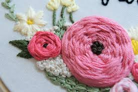 hand embroidery pattern floral wreath pattern embroidery