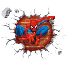 new arrival wall sticker 3d effect super hero spider man breaking new arrival wall sticker 3d effect super hero spider man breaking wall wall stickers children baby