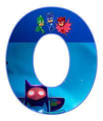numero 0 pj masks numeros pj masks moldes numeros heroes en