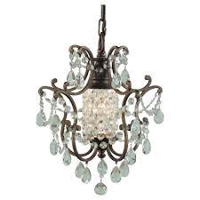 feiss maison de ville 1 light british bronze mini chandelier f1879