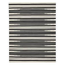 6x9 Outdoor Rug Aura Stripe Indoor Outdoor Rug Black Williams Sonoma