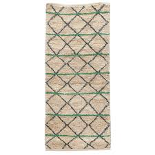 panier house doctor green geometry tapis 90x200cm house doctor house doctor