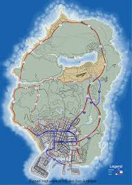 San Andreas Map File Gta V Highway Map Svg Gta Wiki Fandom Powered By Wikia