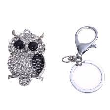 58 x 32 mm rhinestone owl keychain keyring silver top a8q8 ebay