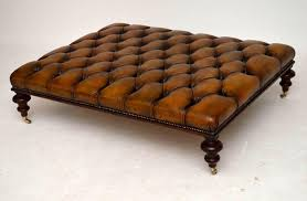 coffee tables splendid popular brown leather ottoman coffee